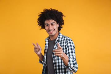 Portrait of a happy young afro american man