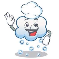 Chef snow cloud character cartoon