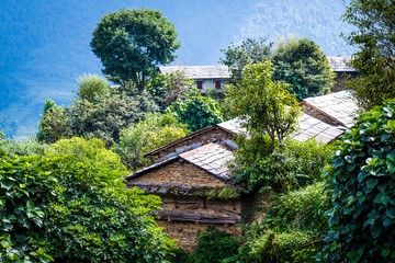 Nepalese house in mountain village