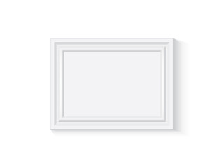 white wooden or plastic frame is easy to change colors mock up vector template