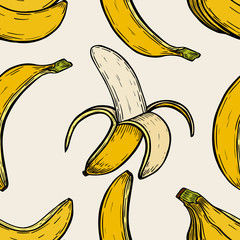 background with bananas