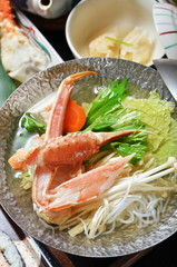 Delicious Japanese seafood - crab dishes.