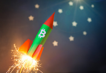 bitcoin increasing price concept