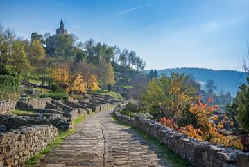 historical Tsarevets fortress in Bulgaria