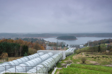 HYDROELECTRIC POWER PLANT - Lake and building of the complex and infrastructure