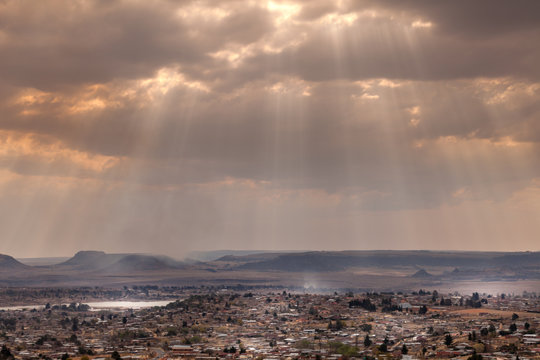 The city of Maseru, Lesotho