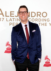 """Juan Cristobal Losada """"Mr. Sonic"""" arrives for the 2017 Latin Recording Academy Person of the Year Gala in Las Vegas"""