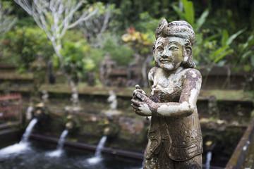 Goddess of the temple Gunung Kawi, holy water, village of Sebatu, Bali, Indonesia