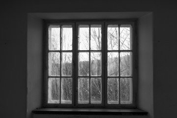 Alte schmutzige Fenster