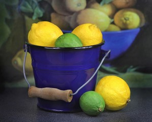 Zitronen und Limonen-Limetten