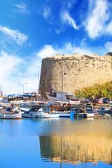 Garden Poster Cyprus Beautiful view of Kyrenia Castle in Kyrenia (Girne), Northern Cyprus