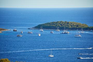 Beautiful coast of Hvar island