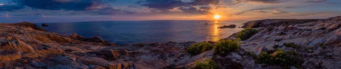 Panorama of Quiberon at sunset