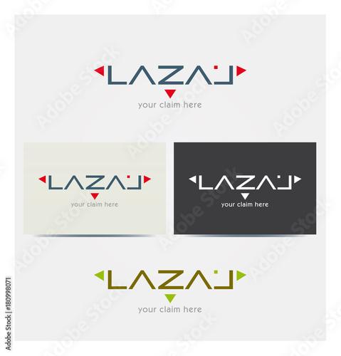 Logo Lettres L A Z Multicolore Icone Symboles Flches Point Carte De Visite Et