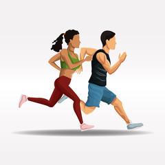 People running fitness lifestyle