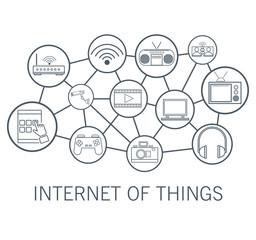 Internet technology round icons