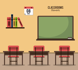 Classroom elements design icon vector illustration graphic design