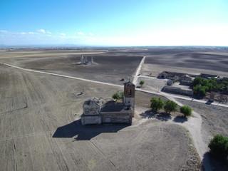 Caudilla (Toledo,Castilla La Mancha) desde el aire. Fotografia aerea con Drone