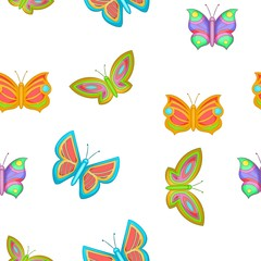 Butterfly pattern, cartoon style