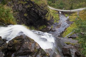 Skjervsfossen Waterfall from Above