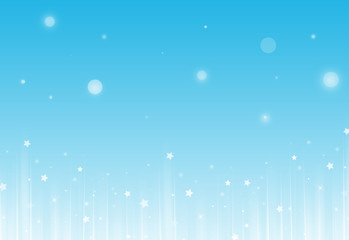 Soft Blue glitter sparkles rays lights bokeh and star festive elegant abstract footer background.  Screen mode. footer design