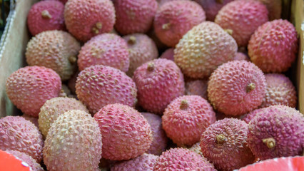 Fresh ripe sweet litchi fruit