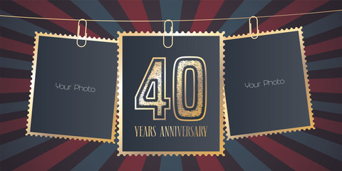 40 years anniversary vector emblem, logo