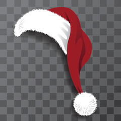 Illustrated Santa Claus hat perfect for photo booth or family Christmas card. EPS 10 vector.