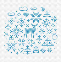 Nordic style vector elements for decoration