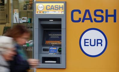 A cash dispenser is seen in Vienna