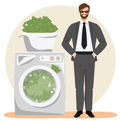 Money laundering concept vector illustration