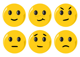 Smiley set. Vector illustration
