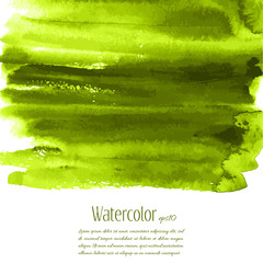 Vector greenery watercolor texture background with dry brush stains, strokes and spots isolated on white. Abstract artistic green grass frame, place for text. Acrylic hand painted gradient backdrop.