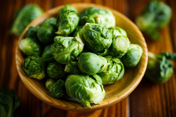 closeup of brussels sprouts