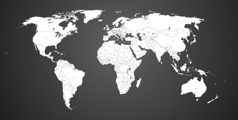 Mappemonde, Pays FR et EN, calques modifiables