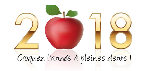2018, vœux - carte de vœux - santé - fitness - vie saine - diététique - forme - sport - résolution