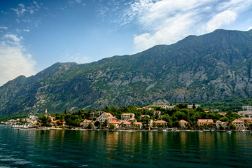 Boko Kotorska Bay. View from the sea.