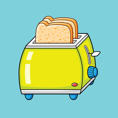 Toaster with bread slices.