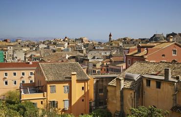 Panoramic view of Corfu city. Greece