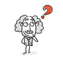 Frage Professor Strichfigur Strichfiguren Nr. 8