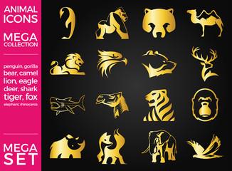 Mega Pack and Mega Set Vector Animals Icons Set EPS 10