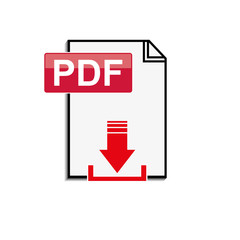 Pdf file download icon on white background