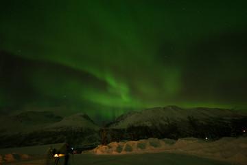 northern norway with rich aurora at tromso