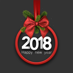 Grey 2018 New Year card.