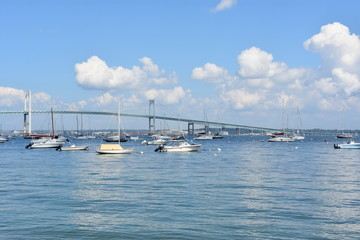 Newport Pell Bridge in Rhode Island