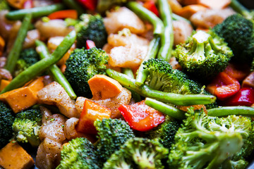 anti-inflammatory pan with chicken and vegetables