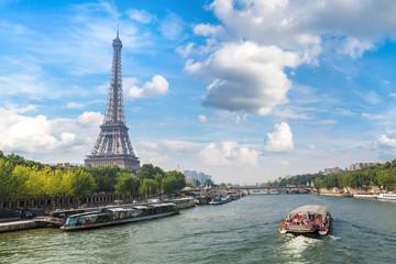 Seine in Paris and Eiffel tower