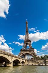 Seine and Eiffel tower  in Paris
