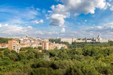 Skyline view of Madrid, Spain