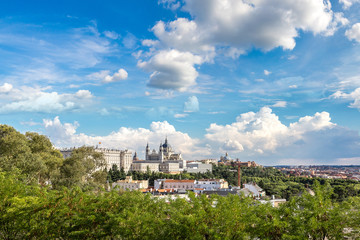 Almudena Cathedral and Royal Palace in Madrid
